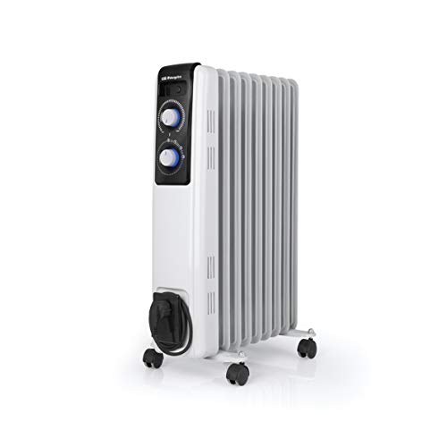 Orbegozo RF 2000 Radiador de Aceite, 2000W de Potencia, construcción Modular de 9 Elementos y diseño en Color Blanco