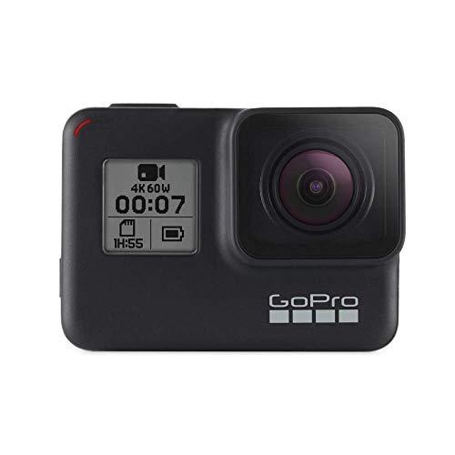 Gopro Hero7 Black - Cámara De Acción (Sumergible Hasta 10M, Pantalla Táctil, Vídeo 4K Hd, Fotos De 12 Mp, Transmisión En Directo Y Estabilizador), Color Negro