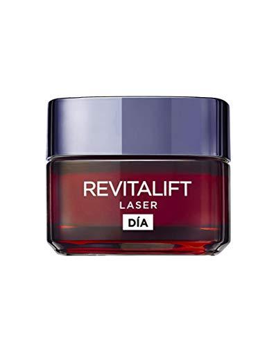 L'Oréal Paris Crema de Día Anti-Edad Intensiva Revitalift Láser, Con Pro- Xylane Concrentrado, Corrige arrugas, retexturiza la piel y remodela el rostro, 50 ml