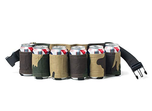 BigMouth Inc Cinturón trae cervezas Camuflaje con cinta 6 cartuchos para latas