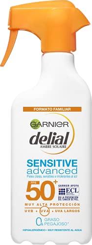 GARNIER DELIAL Sensitive Advanced - Leche Solar para Pieles Claras, Sensibles e Intolerantes al Sol, IP50+, Multicolor - 300 ml
