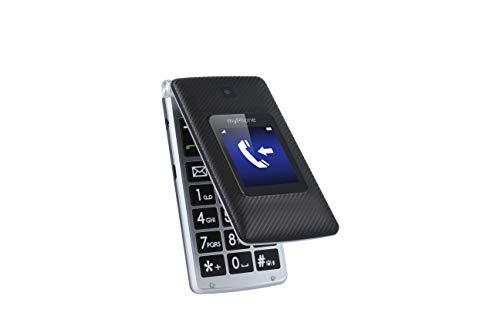 myPhone Tango teléfono móvil para Personas Mayores, Pantallas de 2,4' y 1,77', teléfono móvil Plegable, Teclas Grandes, batería de 900mAh de Larga duración, 3G, Dual-SIM, con Cargador y cámara