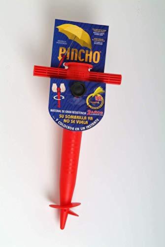 Pincho 400401 Soporte sombrilla, Rojo, 32x18x8 cm