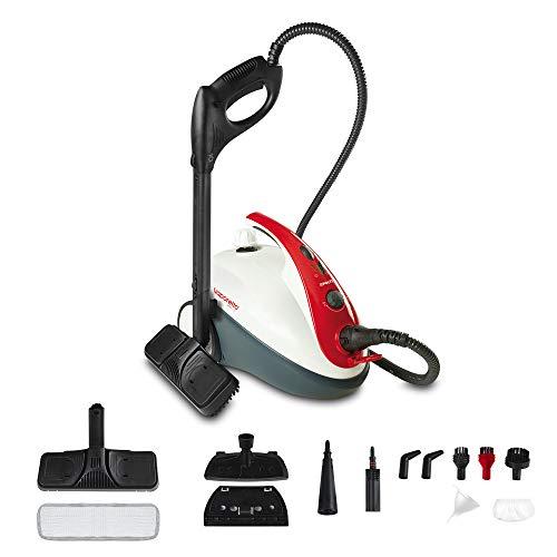 Polti Vaporetto Smart 30_R Limpiador a vapor, 3 Bar, compartimento para accesorios integrado, 1800 W, 1.6 litros, 18/10 Steel, Rojo