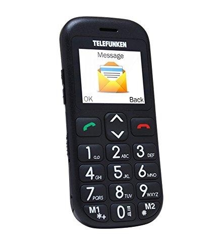 Telefunken TM 110 COSI 1.77' - Teléfono móvil (SIM única, Despertador, calculadora, calendario, Grabadora, Ión de litio, GSM, Micro-USB, TFT), Negro