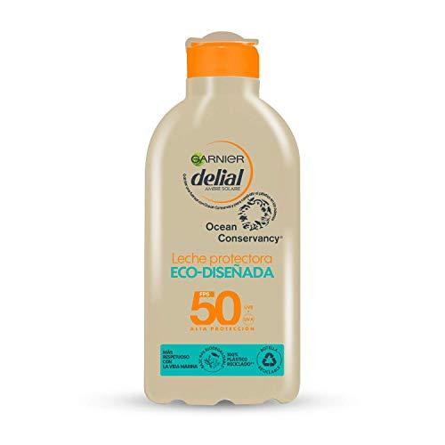 GARNIER DELIAL Leche Protectora Eco Diseñada Spf 50, Respetuosa Con La Vida Marina, Fórmula 94% Biodegradable 235 G, Vanilla