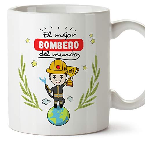 MUGFFINS Taza Bombero (Mejor del Mundo) - Regalos Originales y Divertidos de Bombero