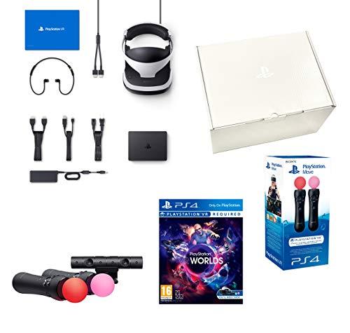 PlayStation VR 'Starter Plus Pack' + VR Worlds + Twin Mandos Move + Camara V2