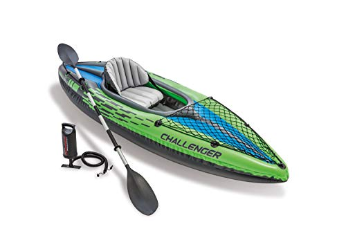 Intex 68305NP - Kayaks deportivos (Kayak inflable, 1 personas(s), 100 kg, PVC, 274 X 76 X 33 cm, color Negro, Verde
