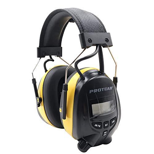 Auriculares con reducción de Ruido de Radio FM/Am, Defensores de oído Protear con Conector de Auriculares estéreo para Disparar y Trabajar, SNR 30dB