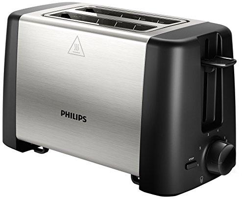 Philips HD4825/90 -Tostador 800w, Doble Ranura, Color Negro, Inox