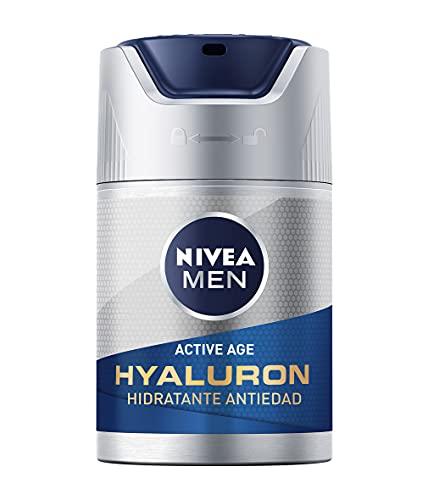 NIVEA MEN Hyaluron Crema Hidratante Antiedad FP15 (1 x 50 ml), cuidado facial avanzado para hombre, hidratante antiedad para reafirmar la piel madura