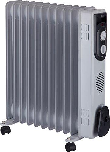 Jata R111 Radiador de Aceite con 11 Elementos caloríficos, 2500 W, Acero Inoxidable, Blanco