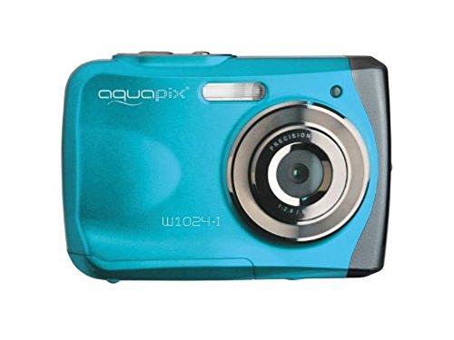Easypix Aquapix W1024 - Cámara compacta digital (10 MP, 2.4', zoom digital 4x, VGA), color azul
