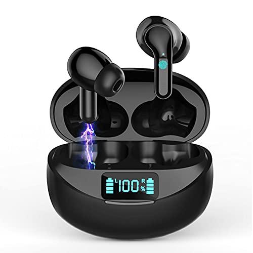 Auriculares Inalámbricos Auriculares Bluetooth 5.0 Deportivos con Cancelación de Ruido Estéreo on Micrófono In-Ear Auriculares IP7 Impermeable Cascos Inalambricos 32 Horas de Eeproducción Pantalla LED