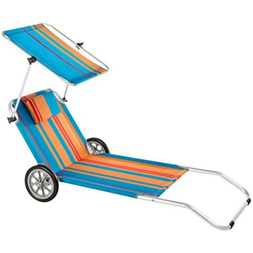 Ultranatura Nizza - Tumbona de Playa con Parasol y Ruedas
