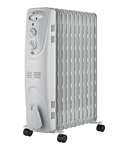 Haverland NYEC-11   Radiador de aceite Portátil   1000 / 1300 / 2300 W   3 Potencias   Termostato Regulable   Con Ruedas y Asas