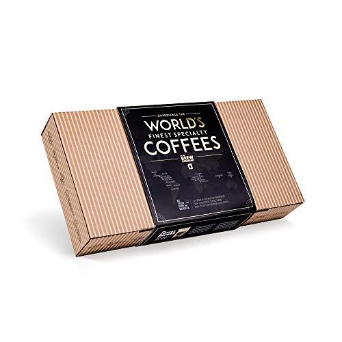 Caja Regalo de Cafe Especialidad apta Para Hombre y Mujer - Paquete de Degustación Gourmet con 10 de Los Mejores Cafés Molidos Orgánicos Del Mundo | Para Prepararlo y Disfrutar Donde y Cuando Quiera