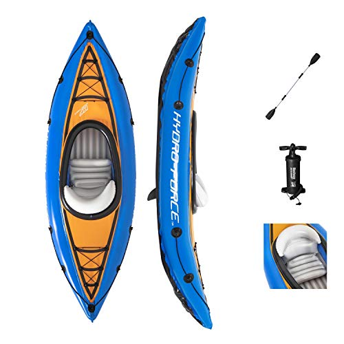 Bestway Hydro Force Cove Champion - Inflable - 1 Persona - con Bomba y Remo - Azul