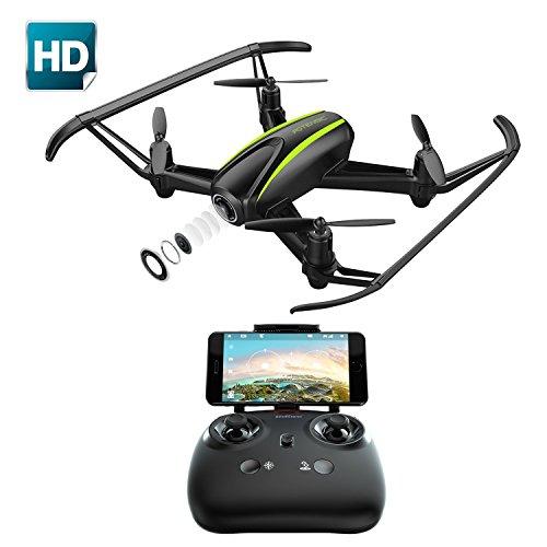 Potensic Drone con cámara 720P HD, RC Quadcopter RTF Altitude Hold, Avión con Control Remoto, Modo sin Cabeza WiFi FPV 2.4Ghz, Aterrizaje y Despegue y Alarma al Fuera de Rango, U36