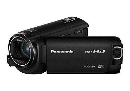 Panasonic HC-W580 - Videocámara de 50x, O.I.S de 5 Ejes, F1.8 - F4.2, Zoom 28 mm - 1740 mm, HD, HDR, SD, Time-Lapse, Zoom 90x Inteligente, Color Negro