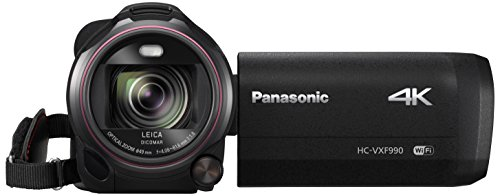 Panasonic HC-VXF990EGK - Videocámara (MOS BSI, 25.4/2.3 mm (1/2.3'), 4.08-81.6 mm, tarjeta de memoria, 4K Ultra HD) (versión importada)
