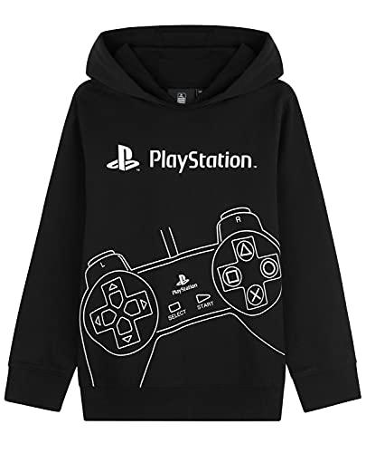 Playstation Sudadera Niño Negra, Sudaderas Niño con Capucha, Ropa para Niño 100% Algodon, Regalos para Niños y Adolescentes Edad 7-15 Años (11-12 años, Negro)