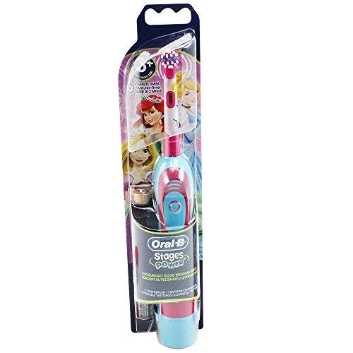 Braun Oral-B Stages Power Kids DB4.510.K - Cepillo de dientes eléctrico para niños (con temporizador), diseño de la Cenicienta