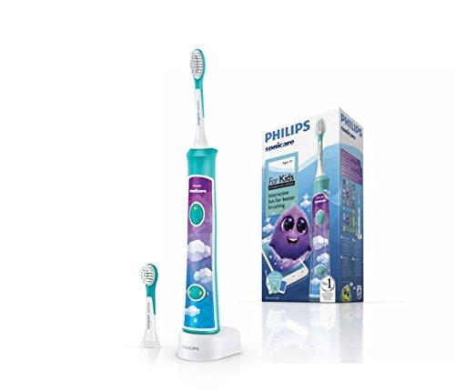 Philips Sonicare HX6322/04 - Cepillo de dientes eléctrico para niños con Bluetooth y App divertida
