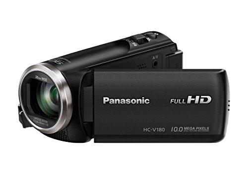Panasonic HC-V180EG-K - Videocámara (2,51 MP, MOS BSI, 25.4/5.8 mm (1/5.8'), 1.67 MP, 2.2 MP, 50x) (versión importada)