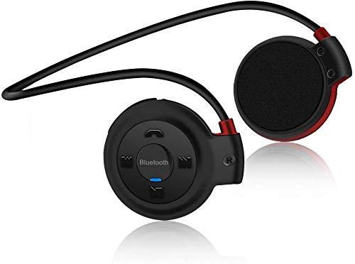 Vemont Auriculares Bluetooth Deporte V4.1 Auriculares Bluetooth inalámbrico Rádio FM con micrófono para correr, entrenamiento, fitness,soporta tarjeta TF para iPhone, Android, MP3 Etc.(Negro)