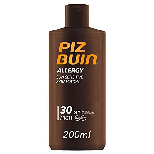 Piz Buin, Allergy Protector Solar en Loción SPF 30, Protección Alta para Pieles Sensibles, 200 ml