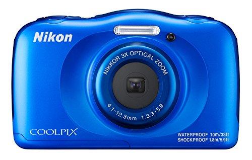 Nikon Coolpix W100 - Cámara digital compacta de 13.2 MP (pantalla LCD de 2.7', CMOS, Snapbridge, VR, objetivo Nikkor, USB, vídeo Full HD, WiFi) Azul