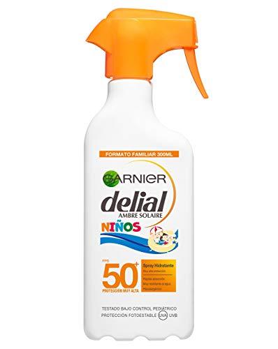 Garnier Delial Niños Sensitive Advanced Protector Solar en Spray para Niños, Alta Protección IP50+ - 300 ml