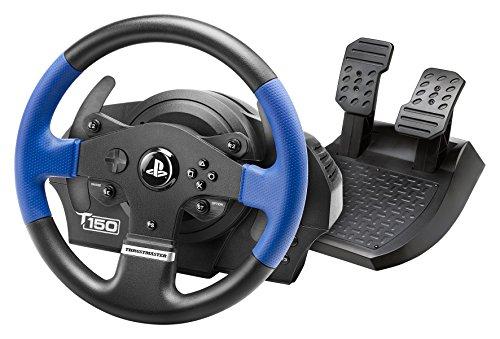Thrustmaster T150 volante de carreras ergonómico con un juego de 2 pedales - Compatible con PS4 y PC - Funciona con juegos de PS5