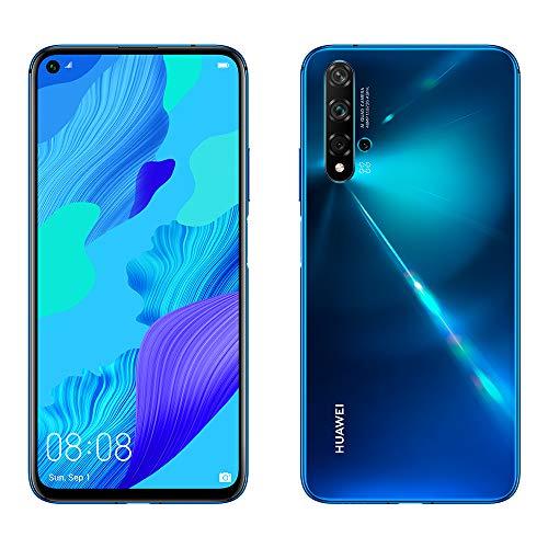 Huawei Nova 5T, Smartphone (6GB de RAM, 128GB de Memoria Interna, 5 Cámaras IA, FullView Display, Sensor de Huella Lateral, 3750 mAh) Dual-SIM, Infrared USB, Android, 6.26', Azul
