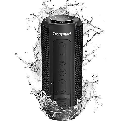 Tronsmart T6 Plus Altavoz Bluetooth 40W, Altavoces Portatiles Waterproof IPX6 con Powerbank, 15 Horas de Reproducción, Sonido Estéreo, Efecto de Triple Bajo, Speaker Bluetooth 5.0 y Manos Libres