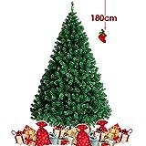 Amzdeal 180 CM Árbol de Navidad - Árbol Artificial de Navidad con 900 Tips, Pino para Decoración Navideña de Material PVC, Frondoso con Soporte Metálico, Simulado y Estable, Interior/Exterior