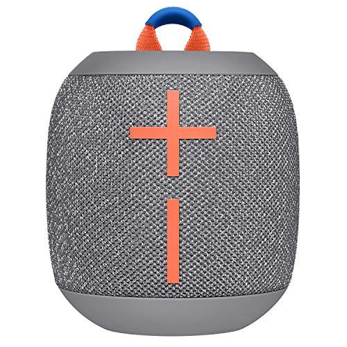 Ultimate Ears Wonderboom 2 Altavoz Inalámbrico, Graves Profundos, Sonido Envolvente de 360°, Impermeable, Conexión de 2 Altavoces para Sonido Potente, Batería de 13 h - Gris