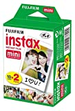 Fujifilm Instax Mini Brillo - Pack de 40 Películas Fotográficas Instantáneas (40 hojas), Color Blanco