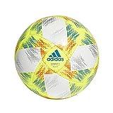 adidas CONEXT19 SAL65 Balón de Fútbol, Hombre, Top:White/Solar Yellow/Solar Red/Football Blue Bottom:Silver Met, FUTS