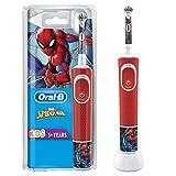 Oral-B Kids - Cepillo eléctrico recargable, 1 mango con personajes de Disney Spider-Man, a partir de 3 años