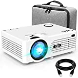 Proyector QKK 4500 Lumen Soporta 1080P Full HD, Proyector HD Nativo 720P con Bolsa de Transporte, Proyector Video Compatible con los TV Stick PS4 HDMI SD AV USB, Proyector Teatro en Casa, Blanco.