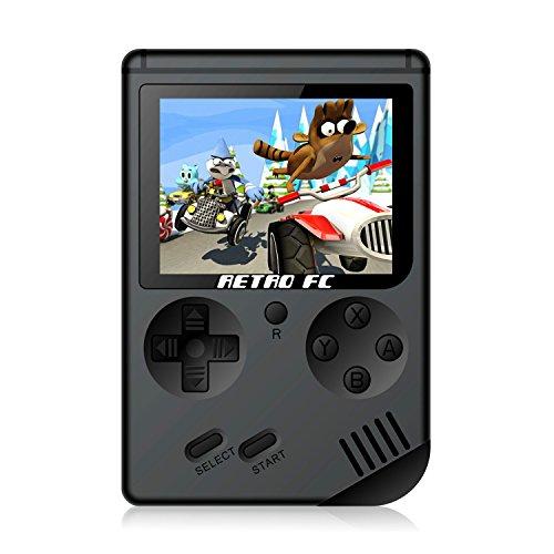 Anbernic Consolas de Juegos Portátil , Consolas de Juegos de Mano Retro FC Handheld Game Console 3 Pulgadas 168 Classic Game Console - Negro