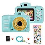 Vannico Camara Fotos, Camara para Niños Cámaras de Video para niños Cámara Digital 8MP 1080P HD Juguetes para niña de 3-12 años con Tarjeta de 16GB TF (Azul)