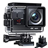 Victure Nueva Versión 4K/50FPS Cámara Deportiva Wi-Fi 4K Ultra HD 20MP con Control Remoto y Pantalla Táctil (Action Camera Acuatica de 40M con 2 Baterías y Cargador Externo)