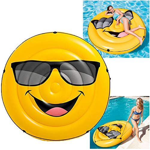 Intex 57254EU - Colchoneta hinchable emoji 173 x 27 cm