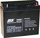 DSK 10365 - Batería Plomo tecnología Gel 12V 17 Ah, Negro. Ideal para Cualquier Aparato de Movilidad eléctrica