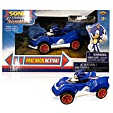 NKOK Sonic & All-Stars Racing Transformed Pullback Car Sonic 9 cm Hedgehog Toys