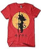 Camisetas La Colmena 164 - Looking for The Dragon Balls (ddjvigo) (Roja, XL)